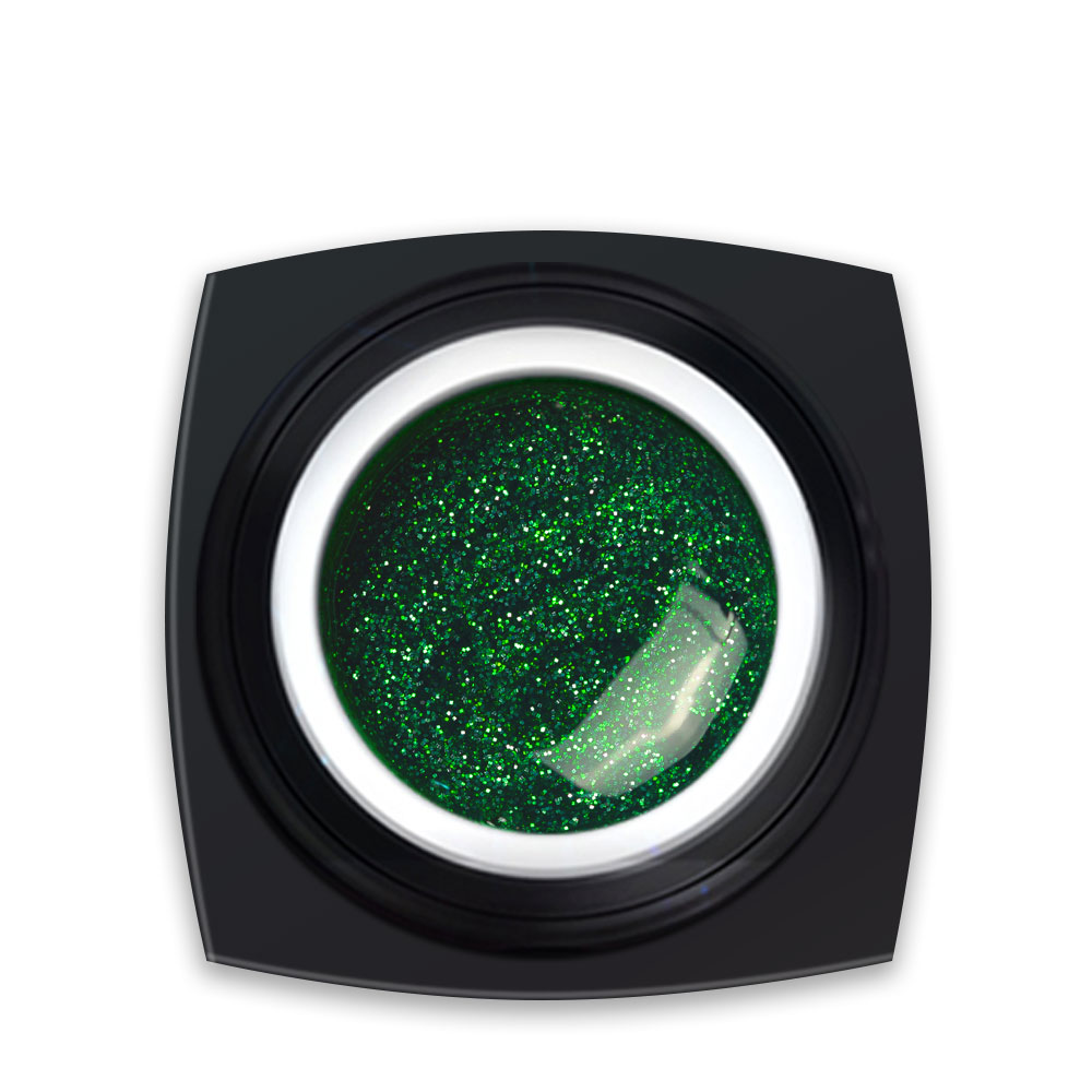 Gel Colorat Verde Sclipici